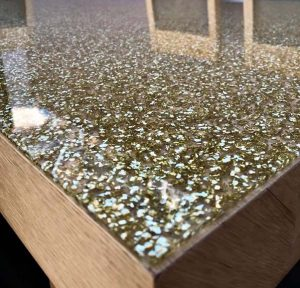 Gold Sprinkle Acrylic supplied by Reedward Plastics