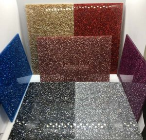 Huge choice of glitter acrylic colours